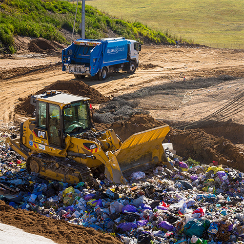 image of waste truck.