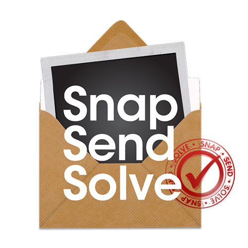 Report an Issue<br />Snap Send Solve