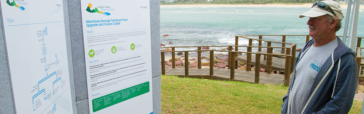 Merimbula STP community information session.