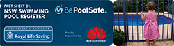 Image link to the NSW Government Fact Sheet on pool register.