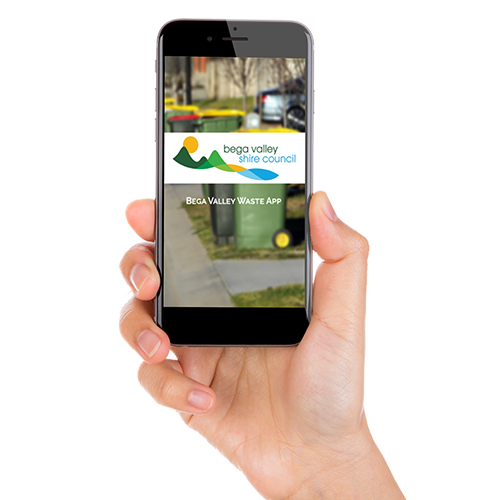 Image of the Bega Valley Waste app.