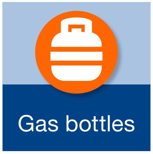 Gass bottles.
