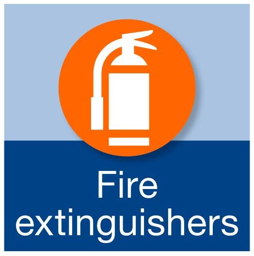 Fire extinquishers.