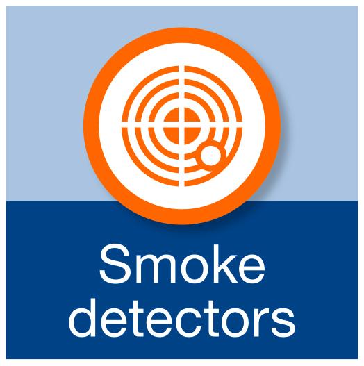 Smoke detectors.