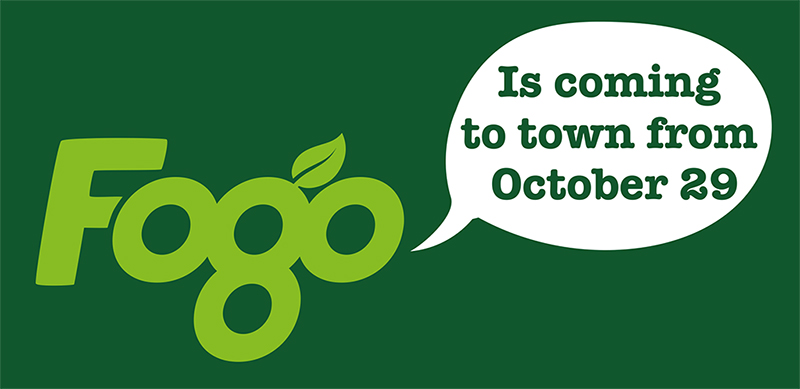 Fogo logo with the words, Is coming to town from October 29.