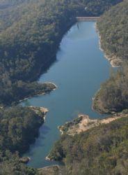 Aerial image of Tantawanglo Dam.