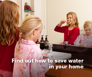 Click the image for all sorts of information and ideas to help you save water in your home.